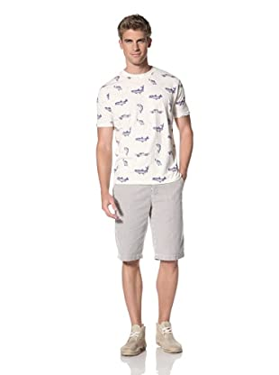 Under 2 Flags Men's Printed Knit Tee (Antique White)