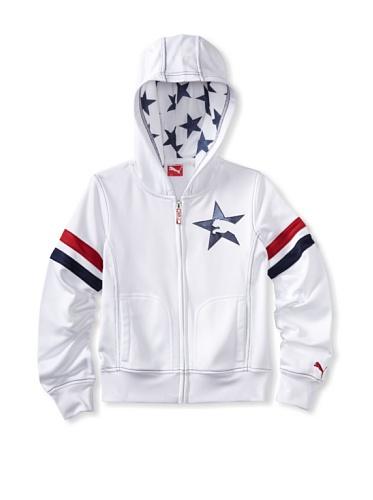 Puma Girl's 7-16 Stars And Stripes Jacket (White)