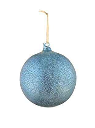 Napa Home & Garden Shiny Antique Mercury Glass Ball Ornament, Turquoise