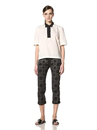 MARNI Women's Boyfriend Jean with Black Pearl Print (Black)