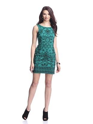 Alexia Admor Women's Caviar Beaded Ponte Dress (Green)