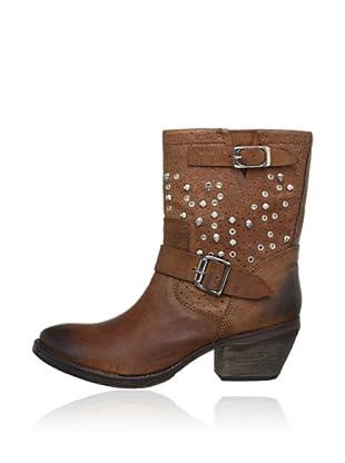 Buffalo London 1012-02 NOVA 142078 - Botas de cowboy de cuero  mujer (Marrón)