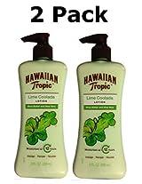 Hawaiian Tropic Lime Coolada Lotion with Shea Butter & Aloe Vera, 8 Fl Oz (2 Pack)