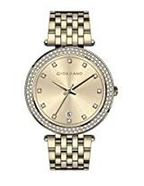 Giordano Analog Gold Dial Women's Watch - A2021-33