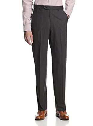 hickey Men's Flat Front Houndstooth Pant (Black)
