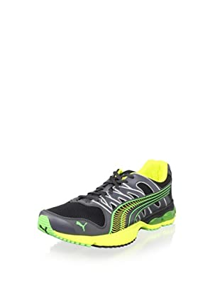 PUMA Men's Radius Running Shoe (Black/Dark Shadow/Fl)