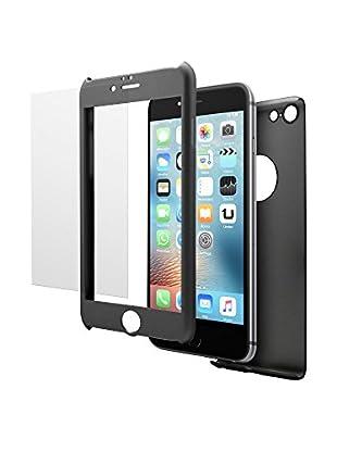 UNOTEC Pack Protección iPhone 6/6S Negro