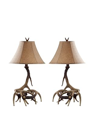 Safavieh Set of 2 Driftwood Table Lamps, Brown