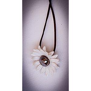Saakar Polymer Clay Flower Brown Necklace