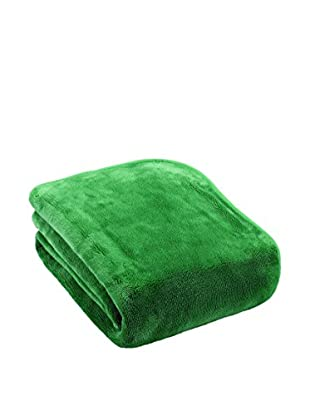Mantas Mora Plaid Pelo Caricia (Verde)