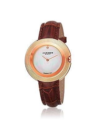 Akribos XXIV Women's AK876RGBR Velvet Brown Leather Watch