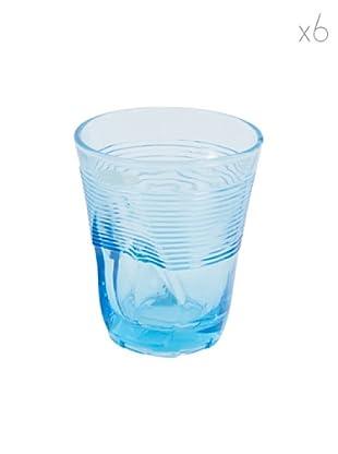 Kaleidos Set 6 Bicchieri Accartocciati 360 ml (Azzurro)