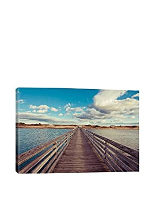 Bridge To The Beach Gallery Wrapped Canvas Print