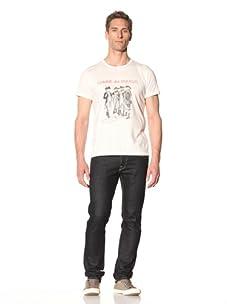 Tee Library Men's Commes Des Enfants (Like Children) Crew Neck T-Shirt (White)