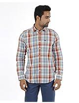 London Fog Men's Casual Shirt (8907174016733_Light Blue_Small)