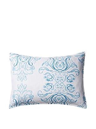 Veranda Standard Sham, White/Blue