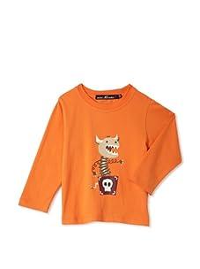 miniMONSTER Baby Boy's Dancing Dragon Long Sleeve Tee (Orange)