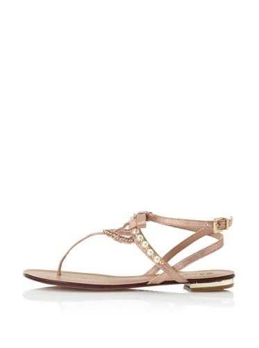 Schutz Women's Pearl T-Strap Sandal (Pessego)