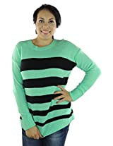 AGB Women's Pullover Sweater Medium Green