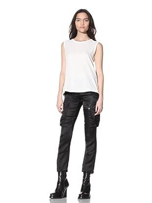 Ann Demeulemeester Women's Satin Cargo Trousers (Black)