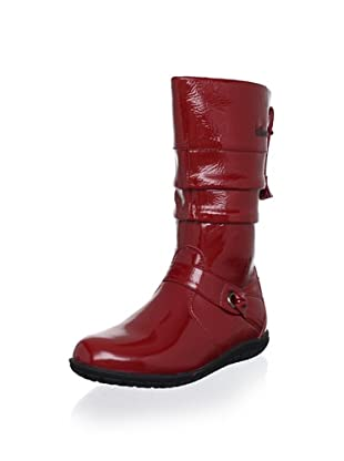 Billowy Kid's Patent Boot (Red)