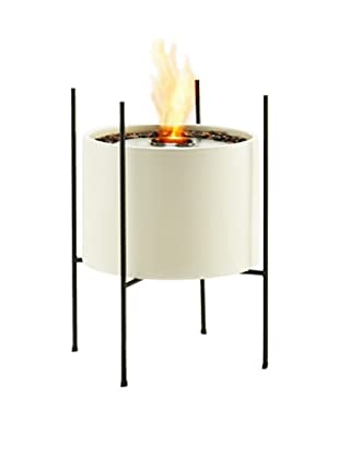 EcoSmart Cylinder Vessel in Stand, White