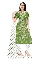 Kala Sanskruti Womens Cotton Silk Unstitched Dress Material (Ksb2X-58 _Olive)