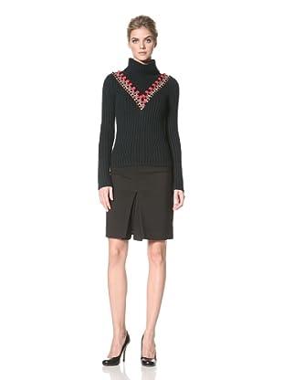 ALTUZARRA Women's Gypsy Turtleneck Sweater (Green/Navy)