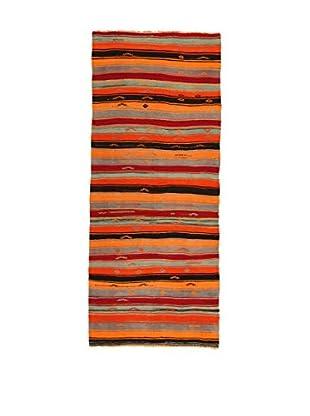 Design Community By Loomier Teppich Kilim Caucasico mehrfarbig 144 x 349 cm