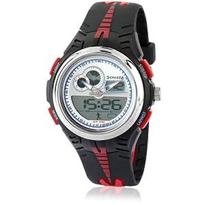 Sonata Super Fibre Analog-Digital Multi-Color Dial Men's Watch - NE7981PP02J