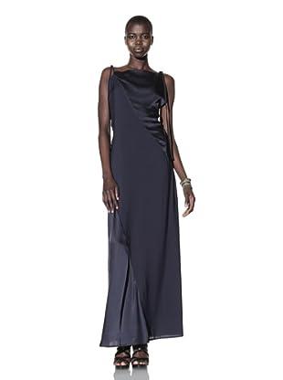 Improvd Women's Sable Sleeveless Satin Dress (Blue)