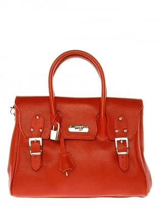 Elysa Lederhandtasche (Rot)