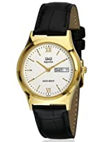 Q&Q Analog White Dial Men's Watch - S112-111NY