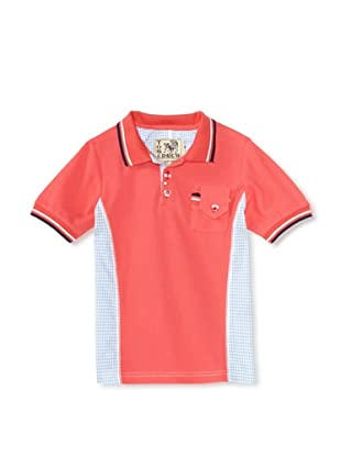 Tom and Drew Boy's Gingham Polo (Strawberry Grouper)