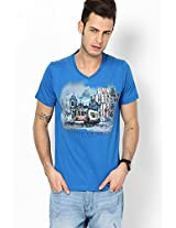 Blue V Neck T-Shirt