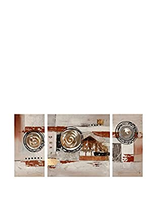 Arte Dal Mondo Leinwandbild 3 tlg. Set Edgar Ramirez Dipinto Astratto
