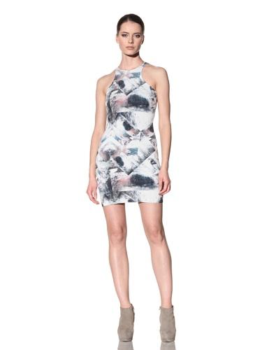 FACTORY by Erik Hart Women's Matte Jersey Racerback Tank Dress (Foil Print)