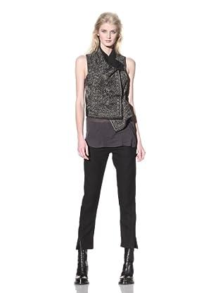 Ann Demeulemeester Women's Embroidered Vest (Black)