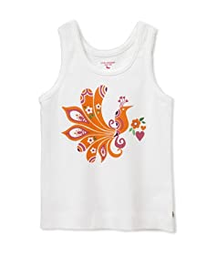 Pink Chicken Girl's Joy Peacock Graphic Tank (White)