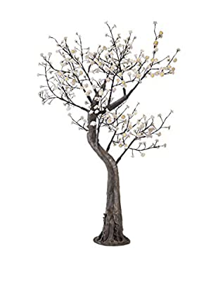 LED White Peach Blossom Tree, Yellow Bulbs