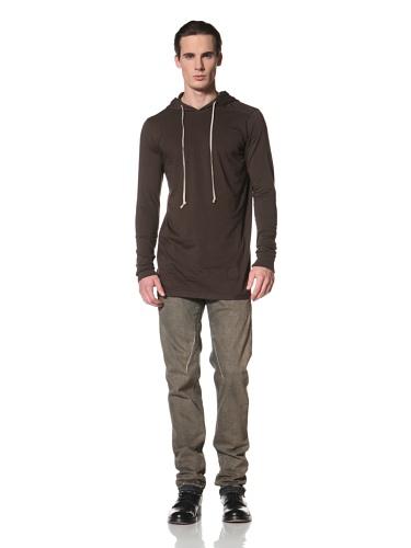 Rick Owens DRKSHDW Men's Hooded Long Sleeve Top (Bitter)
