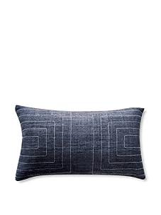 "Jiti Streams 12"" x 20"" Silk Pillow (Charcoal)"