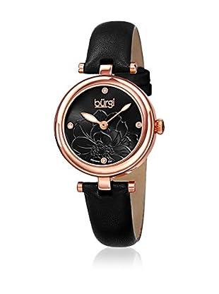 Bürgi Uhr mit japanischem Quarzuhrwerk Woman schwarz