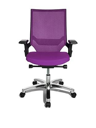 Topstar Bürodrehstuhl Autosyncron 1 inkl. Armlehnen (Korpus schwarz) (violett)