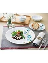 Corelle Vitrelle Glass 6 Pc Dinner Plate Set - Blossom Blue
