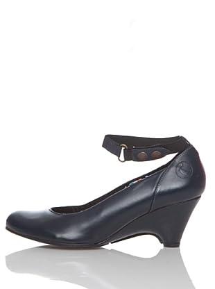 El Ganso Zapatos África De Piel (Azul Marino)