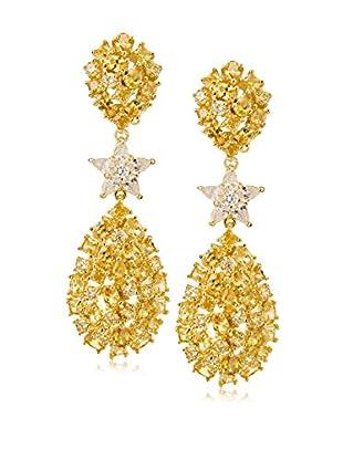CZ by Kenneth Jay Lane Multi CZ Star Clip Earrings
