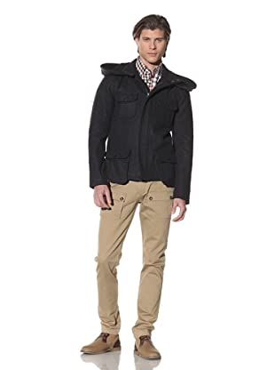Shades of Grey by Micah Cohen Men's Wool Military Jacket (Night Sky)
