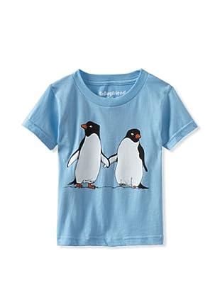 Ex-Boyfriend Boy's Penguin Friends T-Shirt (Light Blue)
