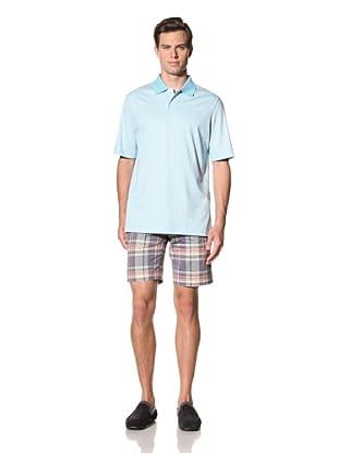 Bobby Jones Men's Stripe Liquid Cotton Polo (Raindrop)